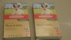 2 Pkts of 6 - ADVANTIX Flea and Tick Treatment for Small Dogs & Pups Up To 4 Kg