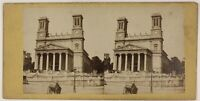 Parigi Eglise st. Vincent Da Paul Francia Foto ThL4n46 Stereo Vintage Albumina