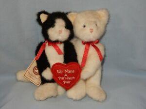 "Boyds Bear Kit N Kat Black White Cat Kitten Plush 8"" with tags"