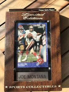 Joe Montana Limited Edition Sports Plaque