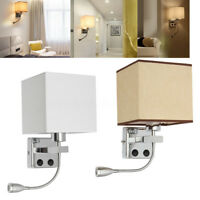 Retro LED Bedroom Bedside Home Living Room Wall Light Sconce Night Lamp Shade