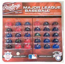 MLB Baseball 30 Mini Batteur Casques Chapeaux League classement Rawlings Tracker Set