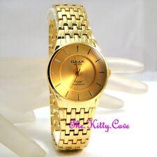 Omax diseñador Impermeable Seiko movimiento Enchapados En Oro De Los Hombres Caballeros Vestido Reloj hbc183