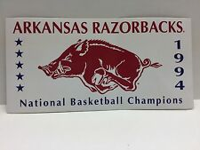 1994 COLLEGE BASKETBALL NATIONAL CHAMPIONS ARKANSAS RAZORBACKS BUMPER STICKER