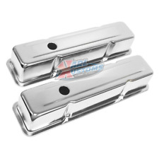 SBC Small Block Chevy 327 350 400 Tall Style Chrome Plated Steel Valve Covers