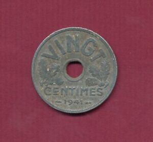 Frankreich 1941 ,  20 Centimes (Zn)  Mi.Nr.210 TT6290 , Erh.: ss-vz