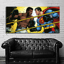 Poster Mural Superman Muhammad Ali Pop Art 29x58 inch (73x147 cm) Adhesive Vinyl
