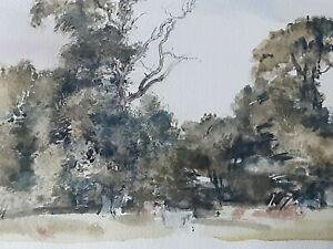 Sir Walter Westley Russell RA - Original Water-Colour of Trees at Blickling