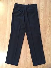 Men's Rocco Barocco Black Pin Stripped Flat Front Pants Sz30 Inseam 32 Euc