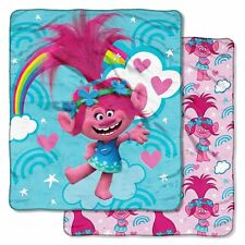 """THE NORTHWEST CO. GIRL'S DOUBLE-SIDED SUPER SOFT THROW OVERSIZED 60"""" x 70"""" NEW"""