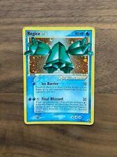Gold Star Regice - Holo Shiny Pokémon 90/92 EX Legend Maker LP Rare Foil Card
