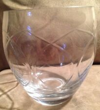 "Heavy Glass Vase with Swirl Etch Design 61/2"" tall, 5"" wide"