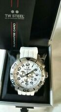 TW95 TW STEEL Grandeur Diver Chronograph White Dial White Rubber Men's Watch