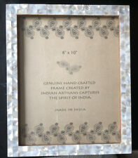 Mother Of Pearl & Wood Picture Frame - 8�x10� Handmade in India New! Beautiful!