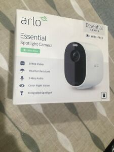 Arlo Essential Spotlight Indoor Outdoor 1080p HD Wireless Camera VMC2030 SEALED
