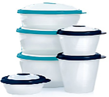 Authentic Tupperware Stuffables Storage Containers 6 piece Bowl Set