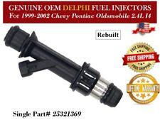 Single OEM DELPHI FUEL INJECTOR 17113602 For 99-2002 CHEVY-PONTIAC-OLDS 2.4L L4
