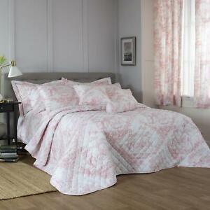 Pink Duvet Covers Toile de Jouy 100% Cotton Luxury Quilt Cover Bedding Sets