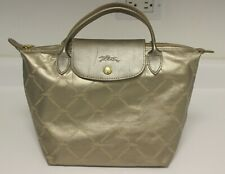LONGCHAMP LE PLIAGE Small Metallic Gold Limited Edition All Over Logo Handbag