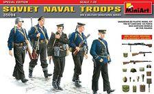 Mini Art 1/35 Soviet Naval Troops Figures (5) WWII Model Kit 35094
