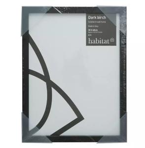 Habitat Dark Birch 40 X 40cm/16 X 16inch Black Picture Frame/( NO glass front )
