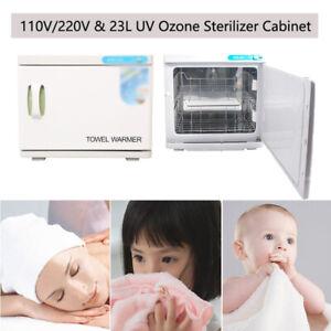 23L Hot Towel Warmer W/ UV Ozone Sterilizer Cabinet Nail Facial Beauty Spa Salon