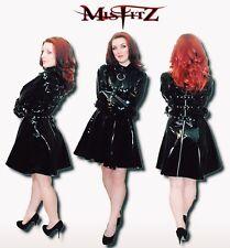 Misfitz black pvc restraint strait jacket skater dress size 8-32/made to measure