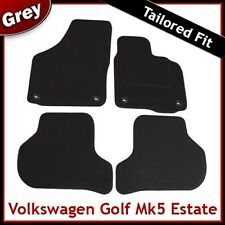 VW Golf Estate Mk5 2007-2009 Oval Eyelets Tailored Carpet Car Mats GREY
