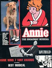 Vintage Annie The Broadway Musical Program GD 120316jhe