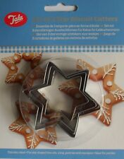 Star Shape Biscuit Cutters, Icing Pastry Marzipan Stainless Steel, Pack 3, Tala