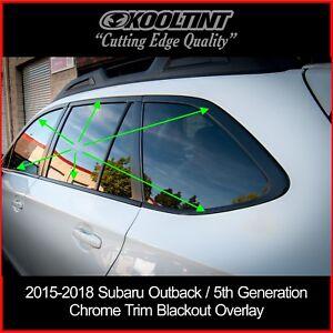 Chrome Delete Vinyl Overlay fitting the 2015-2019 Subaru Outback Chrome Trim