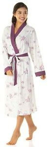 Ladies Polycotton Jersey dressing gown Size UK 10 to 24 robe wrap Tie Front Plus