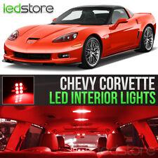 2005-2013 Chevrolet Corvette Red Interior LED Lights Kit Package