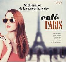 CAFE PARIS-50CLASSIQUE DE LA CHANSON FRANCAISE (EDITH PIAF,FREHEL,...) 2CD NEUF