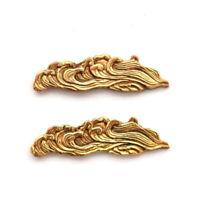 Japanese Sword Menuki Wave antique orthosis decorative hilt Samurai Art F/S