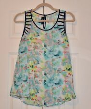 I.N. SAN FRANCISCO FLORAL SLEEVELESS BLOUSE/TOP,  SIZE L , NEW W/O TAGS