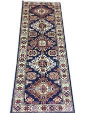 7 ft Runner Super Kazak Midnight Dark Blue 30 x 78 in British Colonial Style Rug