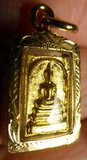 MINI PHRA SOMDEJ BUDDHA AMULET WAT RAKHANG / RAKANG TEMPLE THAILAND on NECKLACE