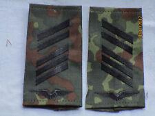 Bw-Rangschlaufen: Oberstabsgefreiter, Luftwaffe, schwarz /flecktarn