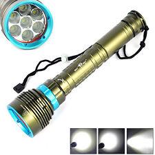 20000lm Diving Scuba 7x Xm-l 7l2 LED Fisherman Flashlight Torch Light to 200m