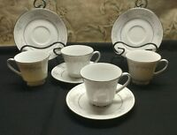 legendary by noritake sweet leilani set of 4 cups and saucers