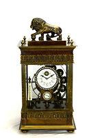 Larger French Style Ferris Wheel Falling Ball Brass Industrial Regulator Clock