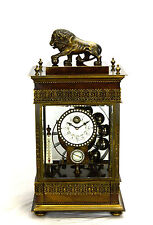 Larger French Style Ferris Wheel Falling Ball Brass Industrial Regulator Clock