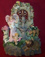 Classic Treasures Angel Lamb & Lion Musical Decorative Water Fountain New in Box