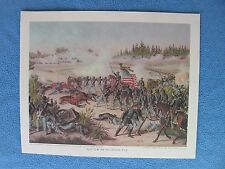 "Kurz & Allison Civil War Print - ""Battle of Olustee, FLA"". - I COMBINE SHIPPING"