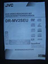 Bedienungsanleitung für DVD- / Videorecorder JVC DR-MV2SEU