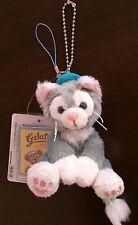 "JAPAN Tokyo Disney Sea Gelatoni Plush Strap Keychain Cat Friend of Duffy 4"""