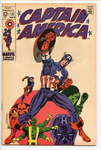 Captain America #111 Marvel Comic Steranko 1969 FINE
