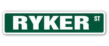 RYKER Street Sign Childrens Name Room Decal  Indoor/Outdoor