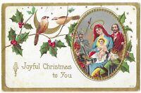 """Vintage Postcard """"A Joyful Christmas to You"""" Posted 1910"""